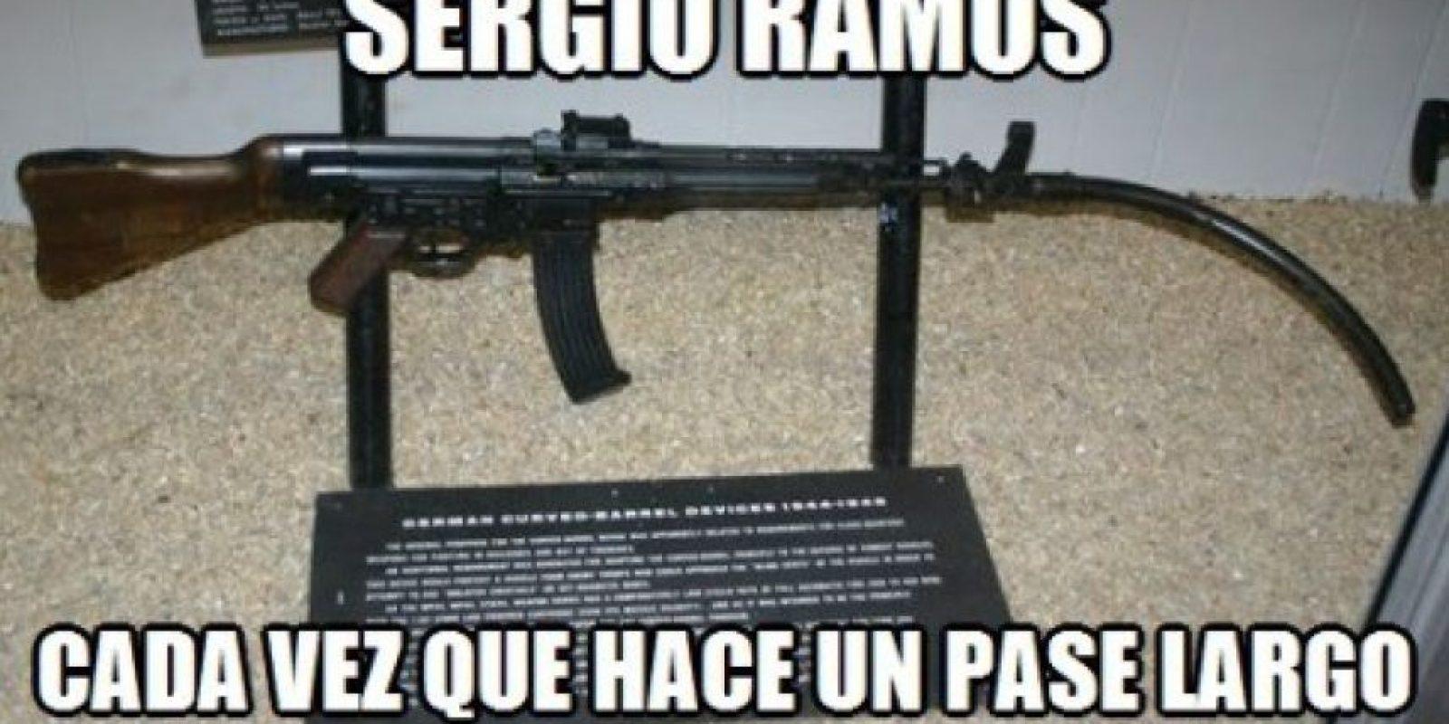 No, definitivamente no fue un buen partido para Sergio Ramos. Foto:memedeportes.com