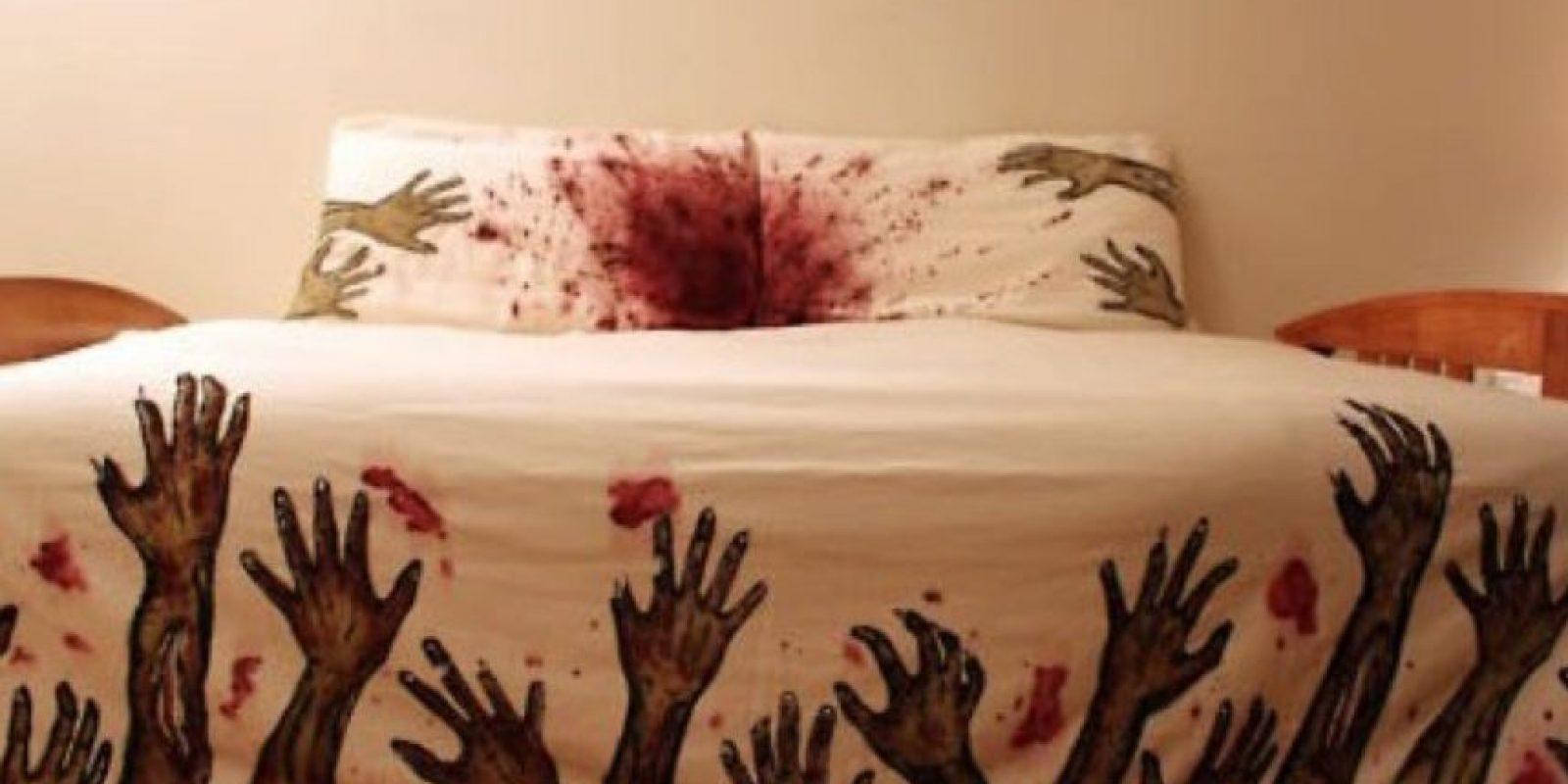 Ropa para cama con estampado zombie Foto:ideasregalos