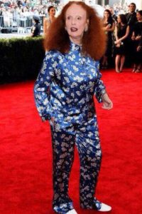 Grace Coddington y su pijama. Foto: vía Getty Images