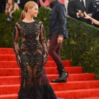 Y el negro contrastaba sensacionalmente con ella. Foto:vía Getty Images