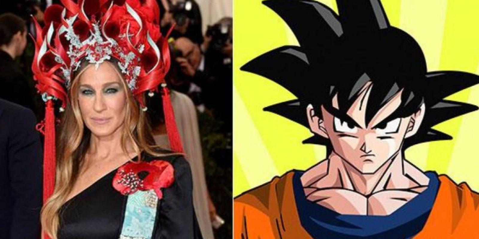 """Con """"Dragon Ball Z"""". Foto:vía Twitter"""