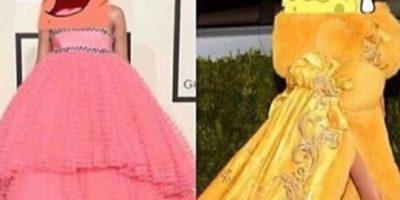 Se burlaron de la racha de vestidos grandes de Rihanna. Foto:vía Twitter