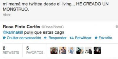 Nunca reten a su madre en Twitter. Foto:vía Vistoenlasredes.com