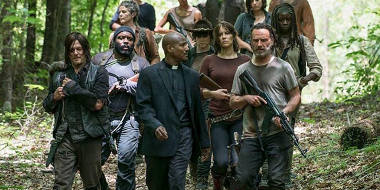 """El actor estadounidense Seth K. Gilliam, quien interpreta a el """"Padre Gabriel"""" en """"The Walking Dead"""" fue detenido Foto:AMC"""