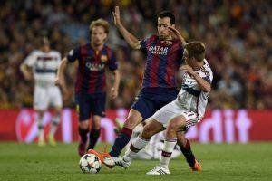 El cuadro azulgrana consiguió un gran resultado contra el Bayern que casi lo coloca en la final de la Champions. Foto:AFP