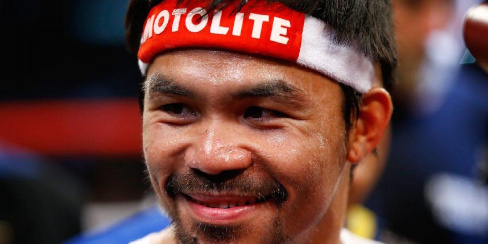 """Pacquiao: """"Floyd Mayweather no hizo nada. Sólo corrió"""". Foto:Getty Images"""