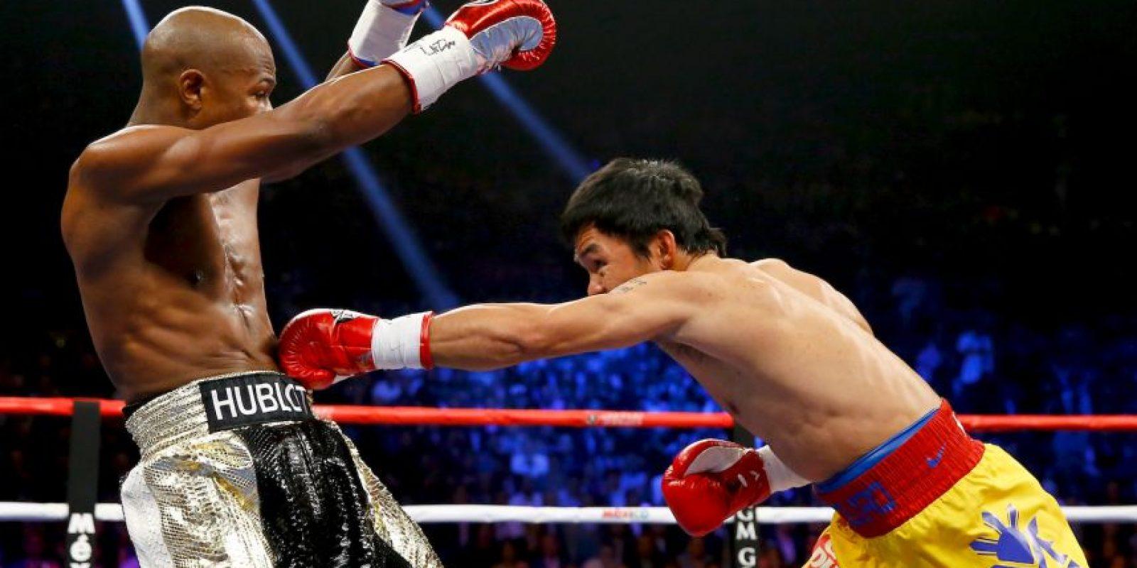 "Pacquiao: ""Le pegué varias veces, le di buenos golpes, creo que gané la pelea"". Foto:Getty Images"