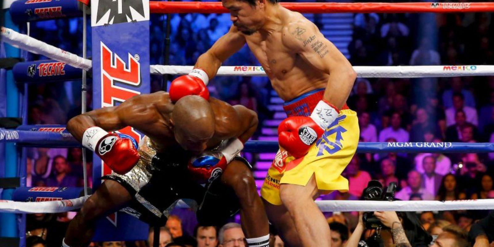 """Pacquiao: """"Fue una buena pelea. Pensé que había ganado"""". Foto:Getty Images"""