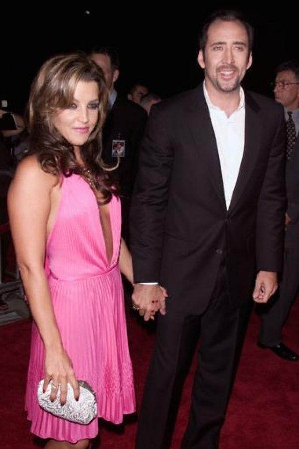 Lisa Marie Presley y Nicolas Cage Foto:Getty Images
