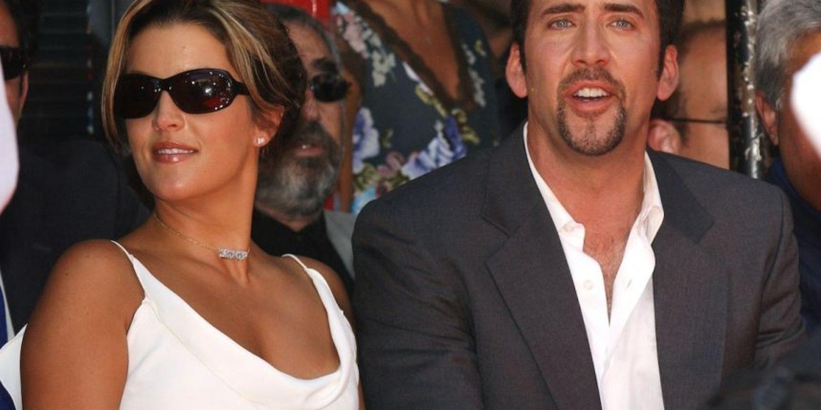 Lisa Marie Presley y Nicolas Cage: 3 meses. Foto:Getty Images