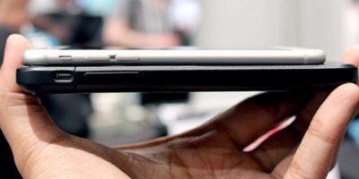 Esta es la diferencia de tamaños entre el iPhone 6 y la funda. Foto:Nikola Labs