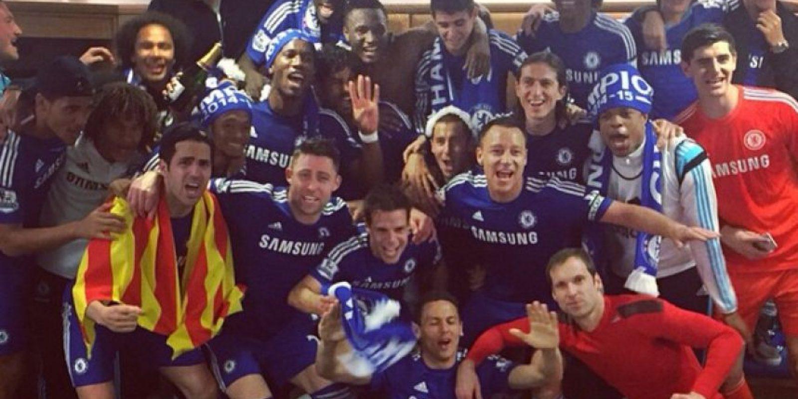 Aquí gran parte del equipo de Jose Mourinho en los festejos. Foto:Vía instagram.com/garyjcahill