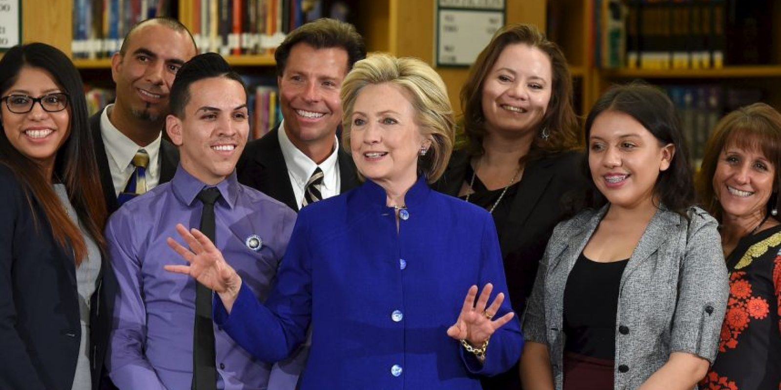 Clinton ha elegido Nevada para hacer su tercera parada en campaña, reconociendo la importancia del voto hispano. Foto:Getty Images