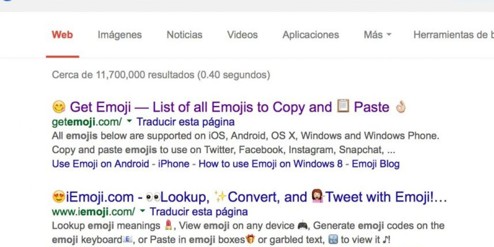 Google ya no quiere a los emojis en las búsquedas. Foto:Google