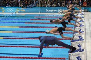 Listo para hacerle frente a Michael Phelps. Foto:Vía twitter.com