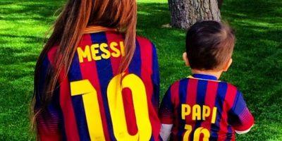En 2012, con una celebración de gol en un duelo entre Argentina y Ecuador, Messi anunció que sería padre. Foto:Vía instagram.com/antoroccuzzo88