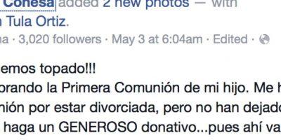 Obvio, publicó todo en Facebook. Foto:vía Facebook/Ángela Conesa