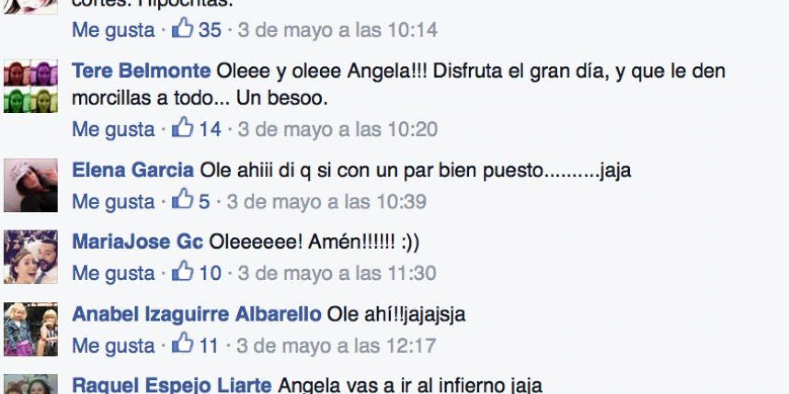 Y varios la felicitan. Foto:vía Facebook/Ángela Conesa