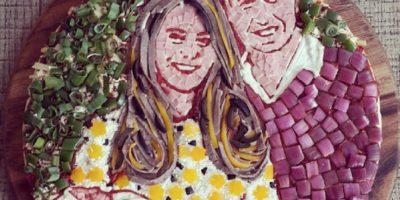 La pizza con la que homenajearon a la familia real. Foto:Vía Facebook.com/wearezizzi