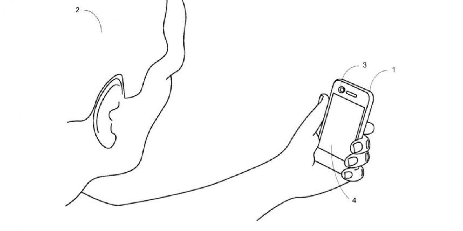 La figura explicativa que revela el nuevo reconocimiento facial que Apple patentó Foto:http://pdfpiw.uspto.gov