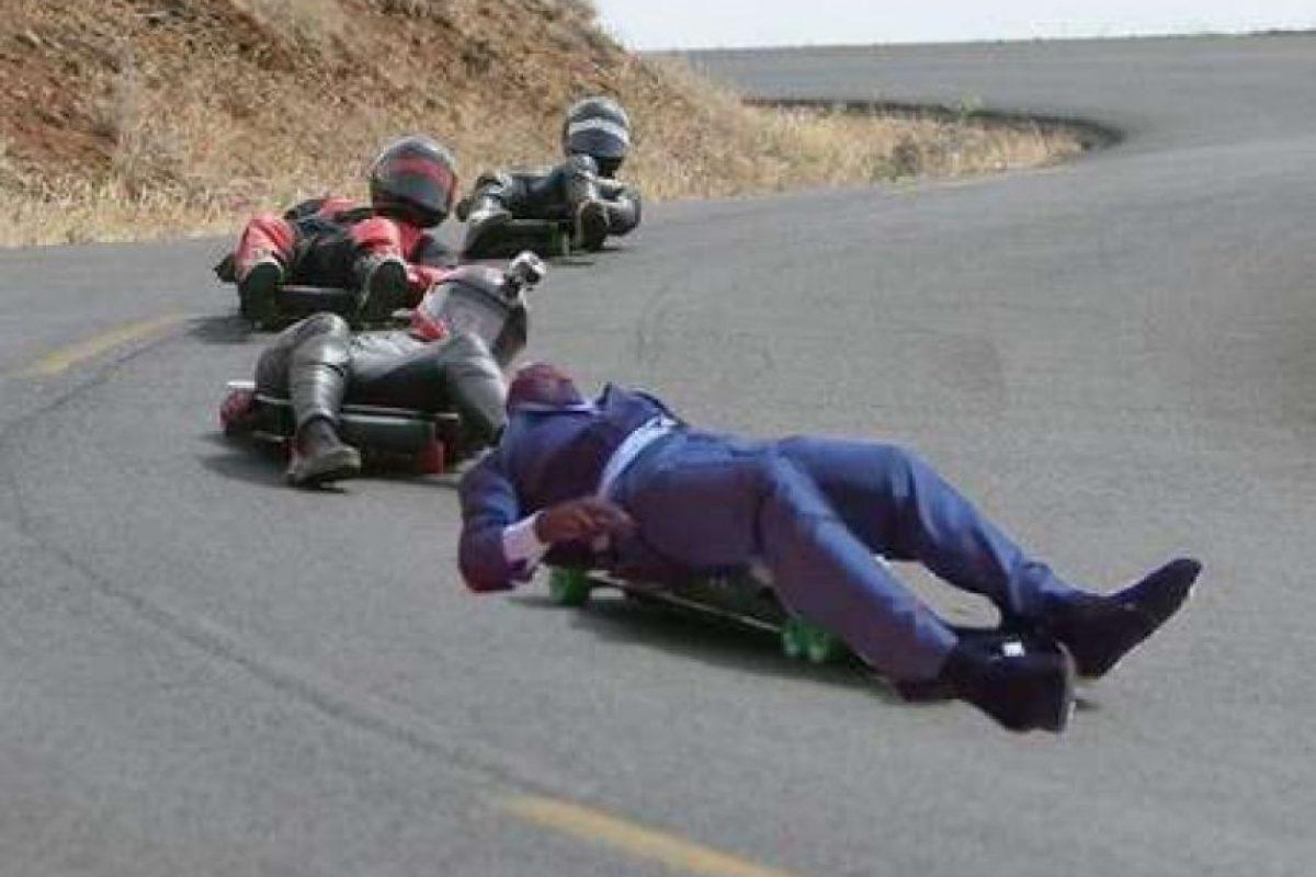 También le gustan los deportes extremos… Foto:Vía twitter.com
