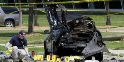 Así lucía la escena del crimen en Garland, Texas. Foto:Getty Images