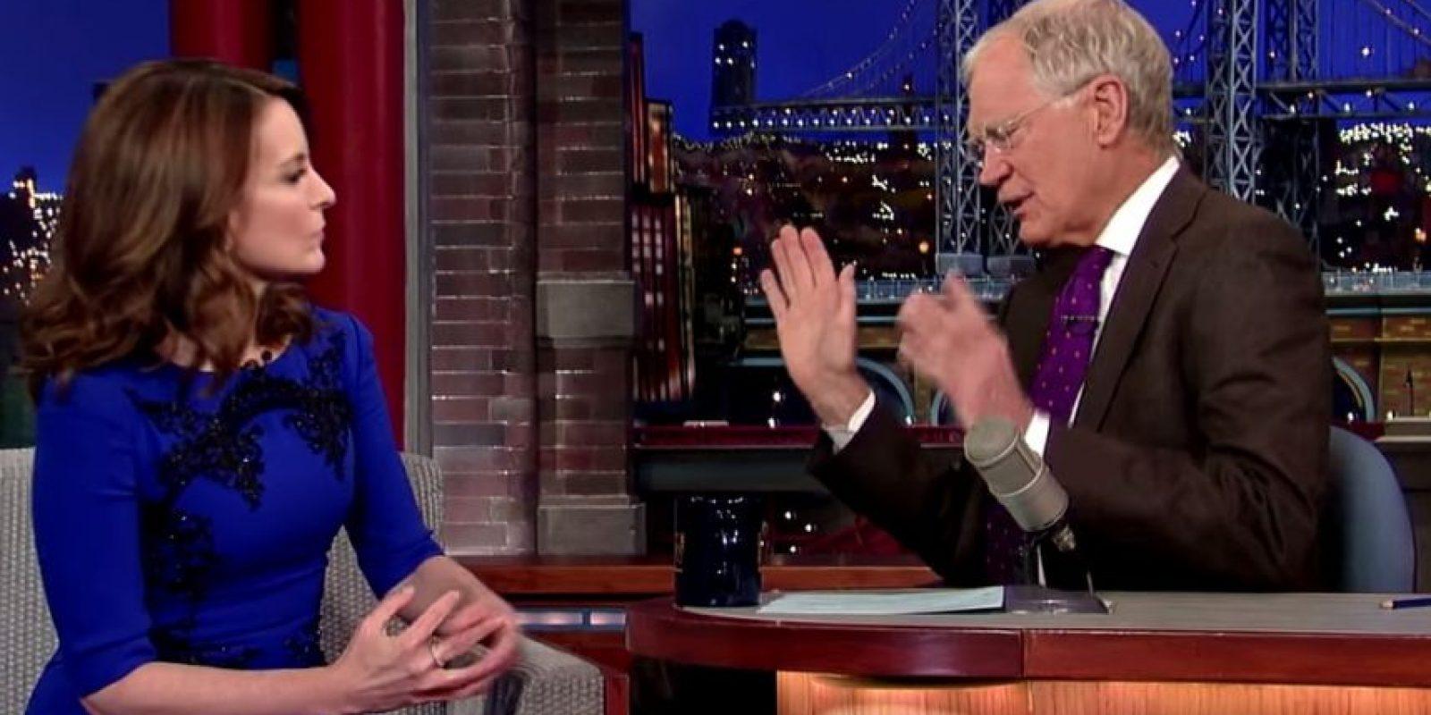 Fur invitada al Show de David Letterman Foto:Late Show with David Letterman