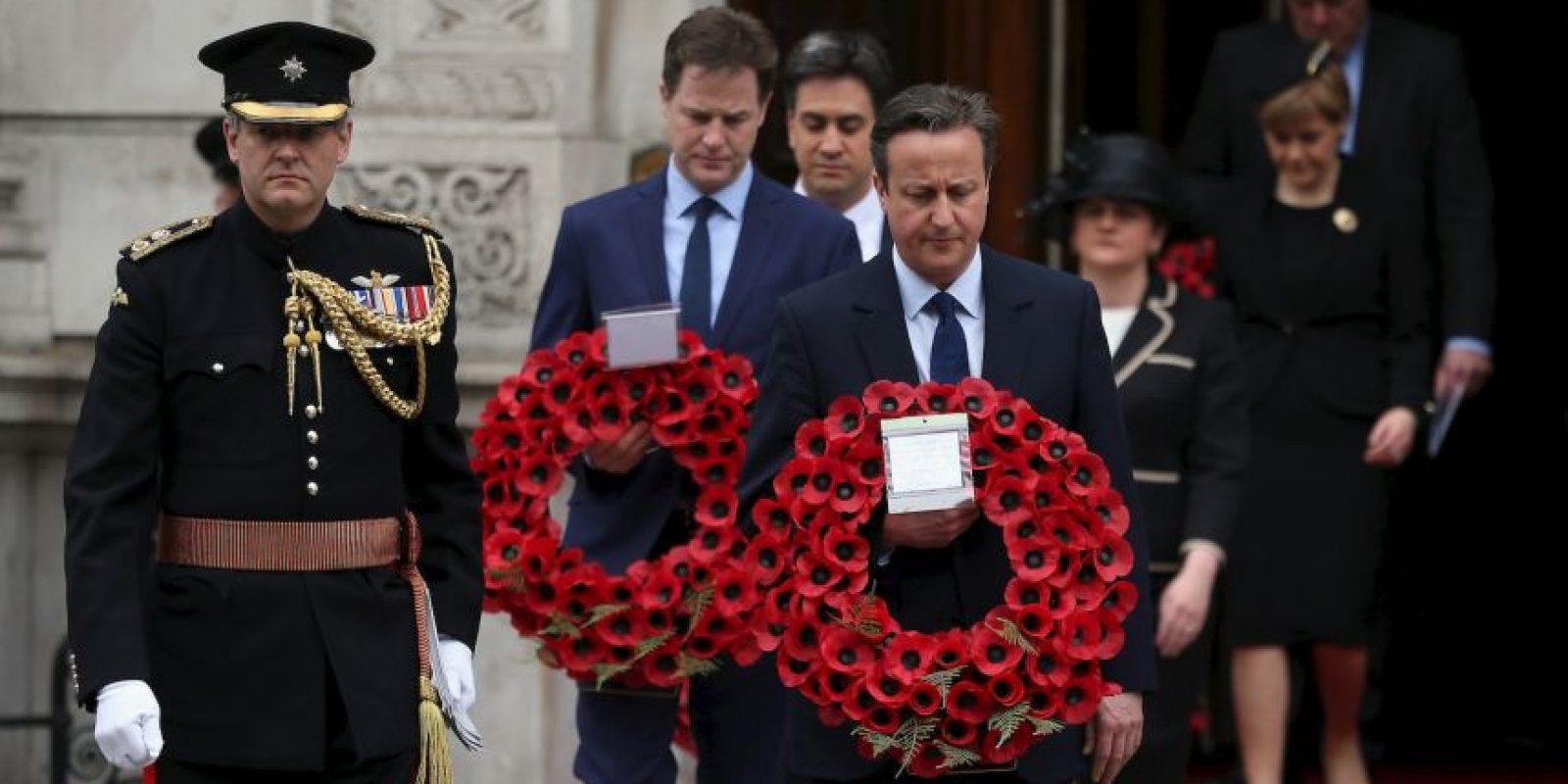 El ganador de las elecciones de Reino Unido, David Cameron, asistió a las celebraciones en Londres. Foto:Getty Images