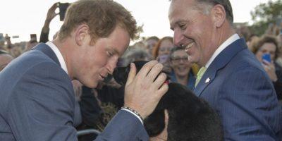 Fue recibido por el primer ministro, John Key. Foto:Getty Images