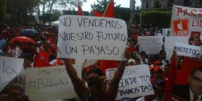 Baldizón suspende actividad en La Antigua por manifestantes