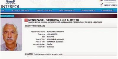 Formalizan captura internacional contra Luis Mendizábal