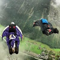 Potter y Graham realizando el salto base Foto:Instagram.com/DeanPotter