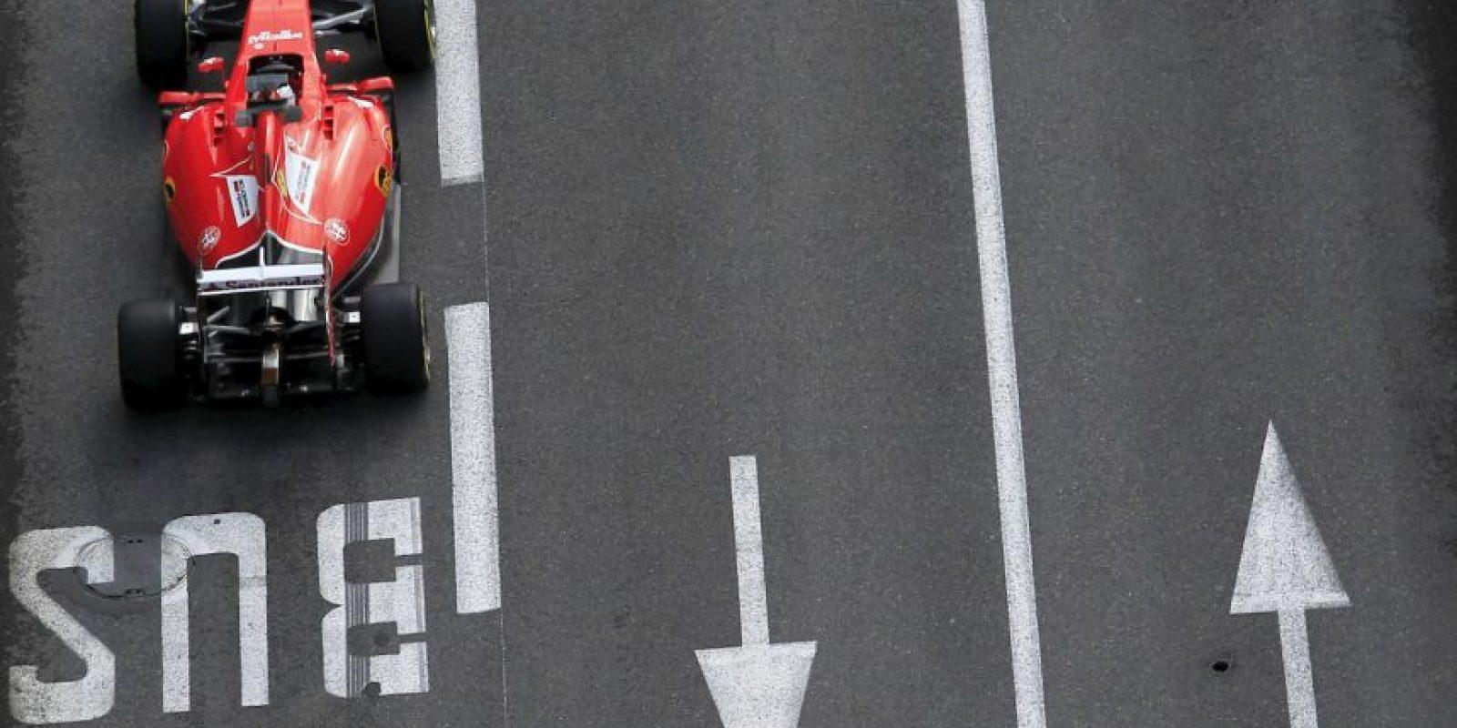 El piloto alemán Sebastian Vettel, de la escudería Ferrari. Foto:AFP