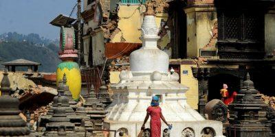 Sobrevivientes de los terremotos en Nepal. Foto:AFP