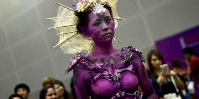 Desfile de modas en Malasia. Foto:AFP