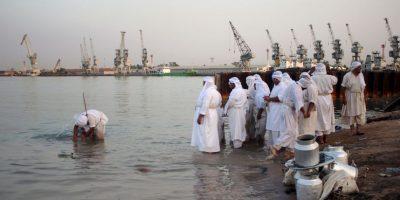 Ritual religioso en Irak Foto:AFP