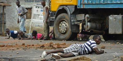 Protestas en Burundi por la intención del presidente Pierre Nkurunziza de aspirar a un tercer mandato. Foto:AFP