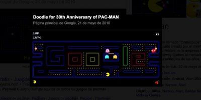 """Google festejó con un """"doodle"""" dedicado a la famosa bola amarilla Foto:Google"""
