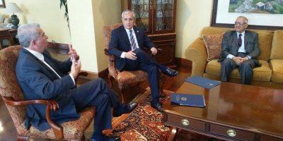 Pérez se reúne con Luis  Rabbé para dialogar sobre reformas a la ley