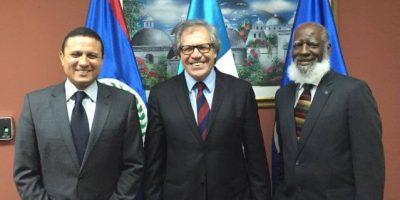 Cancilleres de Guatemala y Belice se reúnen con secretario de la OEA
