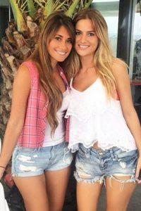 Antonella Rocuzzo y Elena Galera, novias de Lionel Messi y Sergio Busquets. Foto:Vía instagram.com/antoroccuzzo88