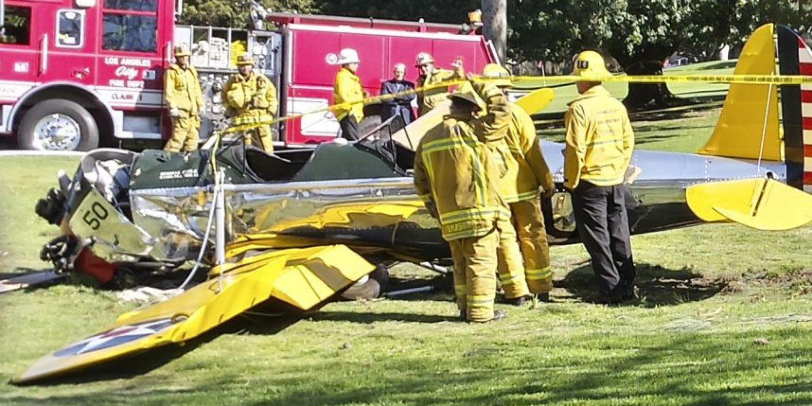 Harrison se estrelló en un campo de golf Foto:Getty Images