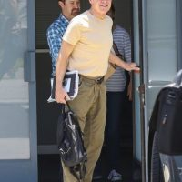 El actor volvió a volar después del percance Foto:Grosby Group