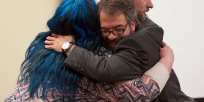 A ella la golpearon. Foto:vía Getty Images