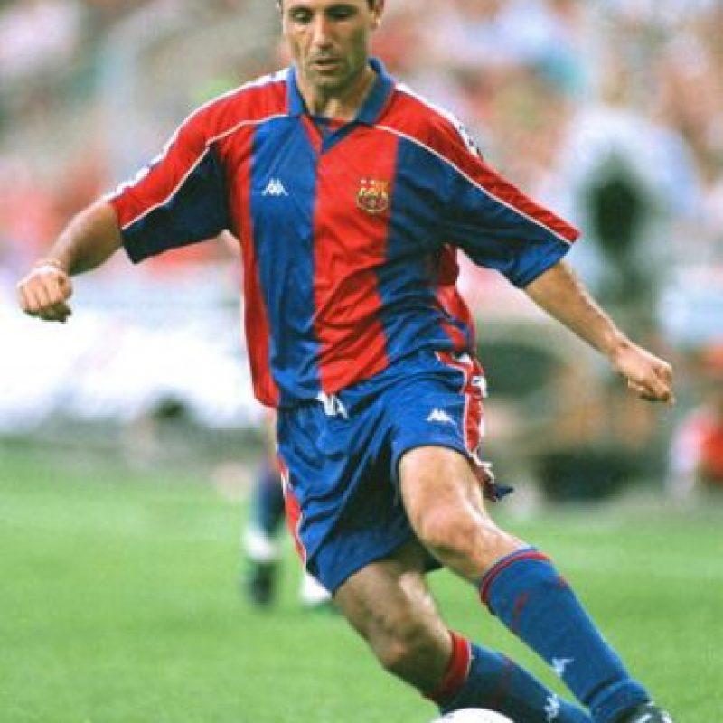 Jugó para el Barcelona de 1990 a 1995 y luego de 1996 a 1998. Foto:Getty Images