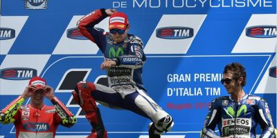 El salto de victoria de Jorge Lorenzo