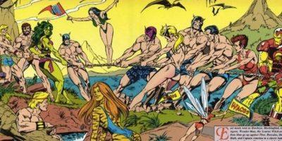 """FOTOS: Así lucían """"Los Vengadores"""" en traje de baño en los 90 (y era horrible)"""