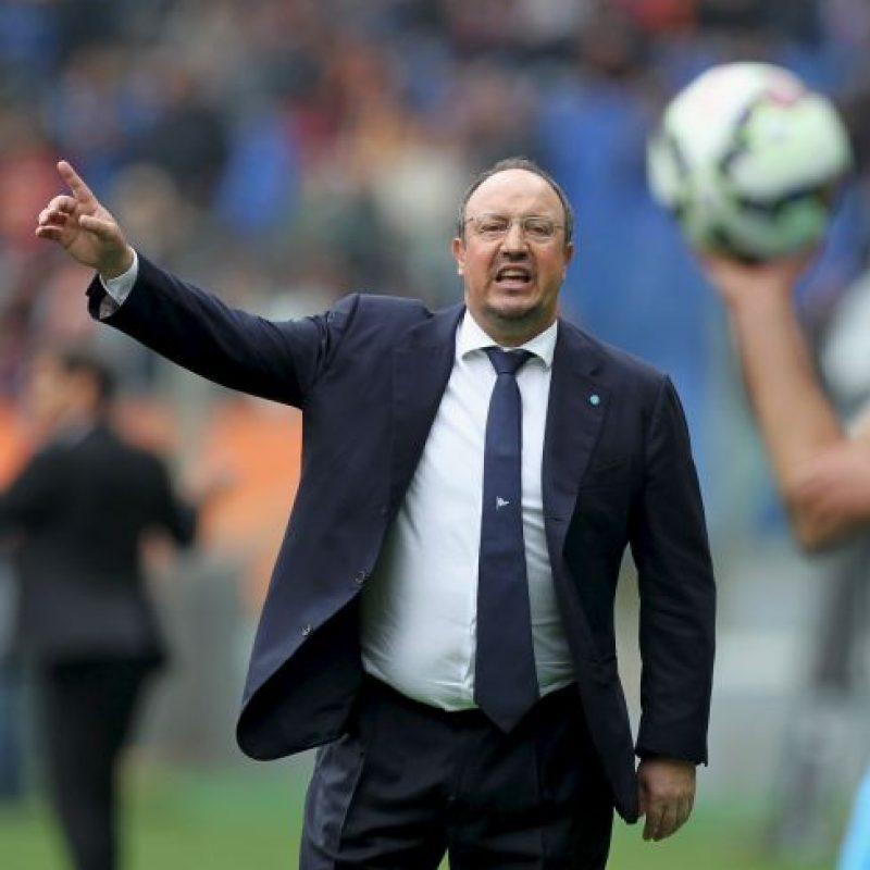 El entrenador español Rafael Benítez es señalado por diversos medios de comunicación como el reemplazo de Carlo Ancelotti en el banquillo del Real Madrid. Foto:Getty Images