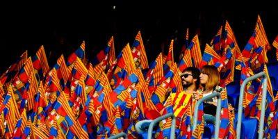 Por su puesto, los colores del Barcelona brillaron en su estadio. Foto:Getty Images