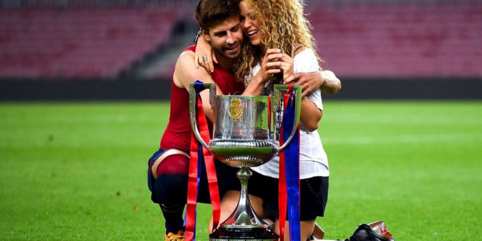 El Barcelona ganó este 30 de mayo la Copa del Rey ante el Athletic de Bilbao y los futbolistas celebraron el título con su familia. Foto:Getty Images